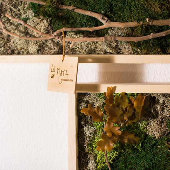 Cuadro con musgo preservado – Taller creativo